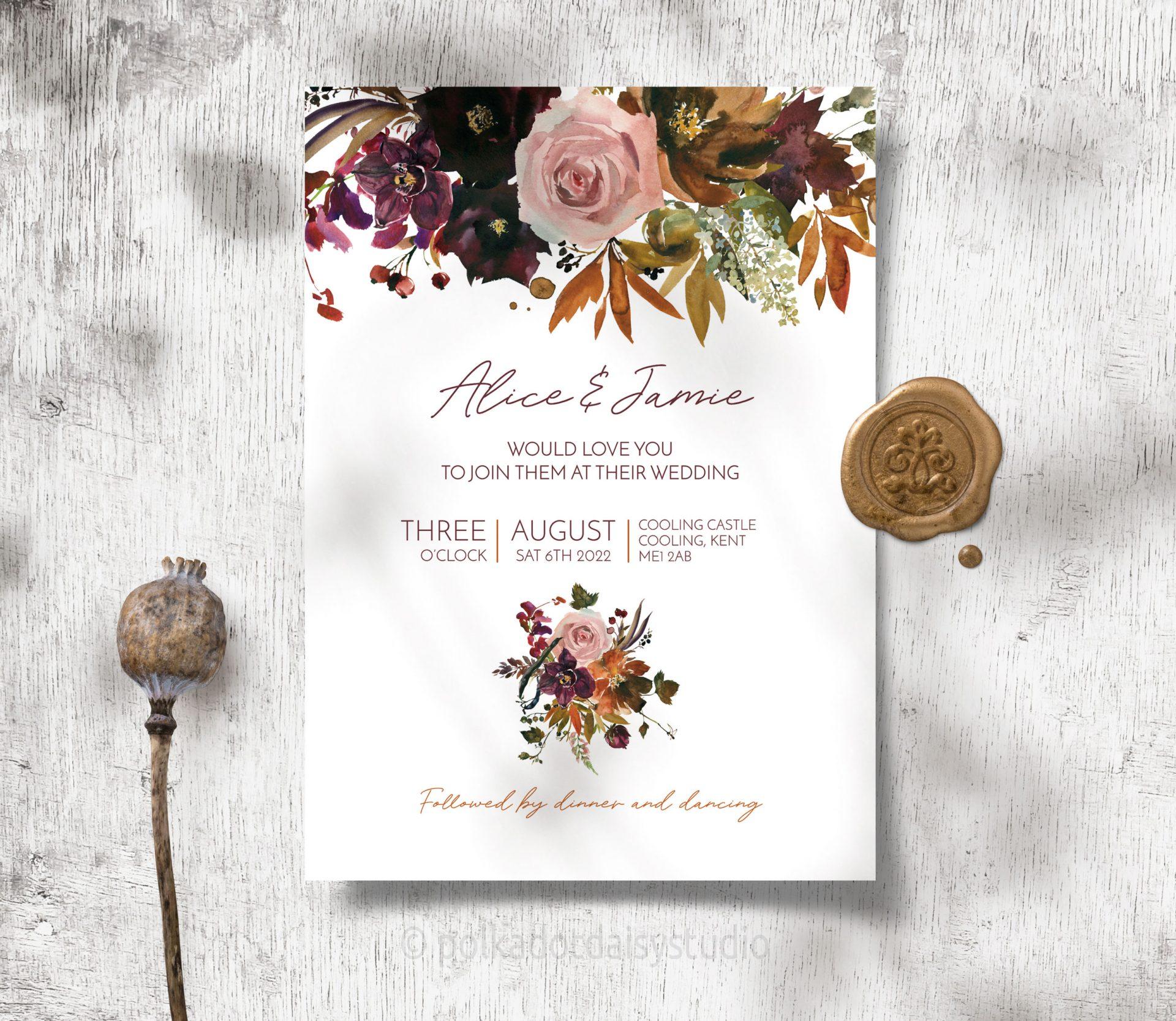 autumn orchid invite
