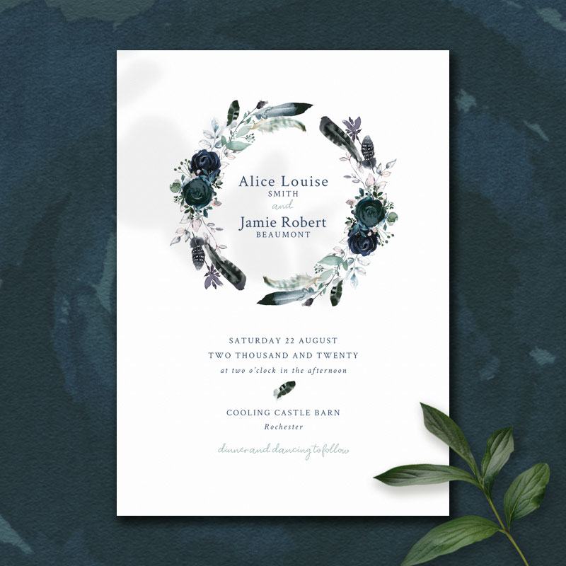 blue rose invite