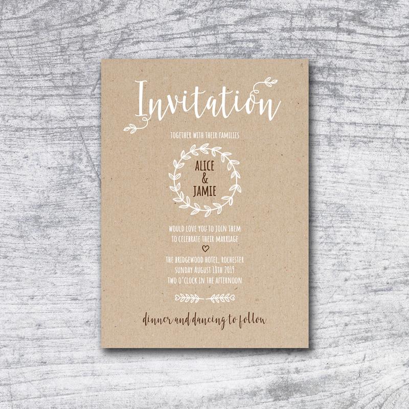 rustic laurel invite