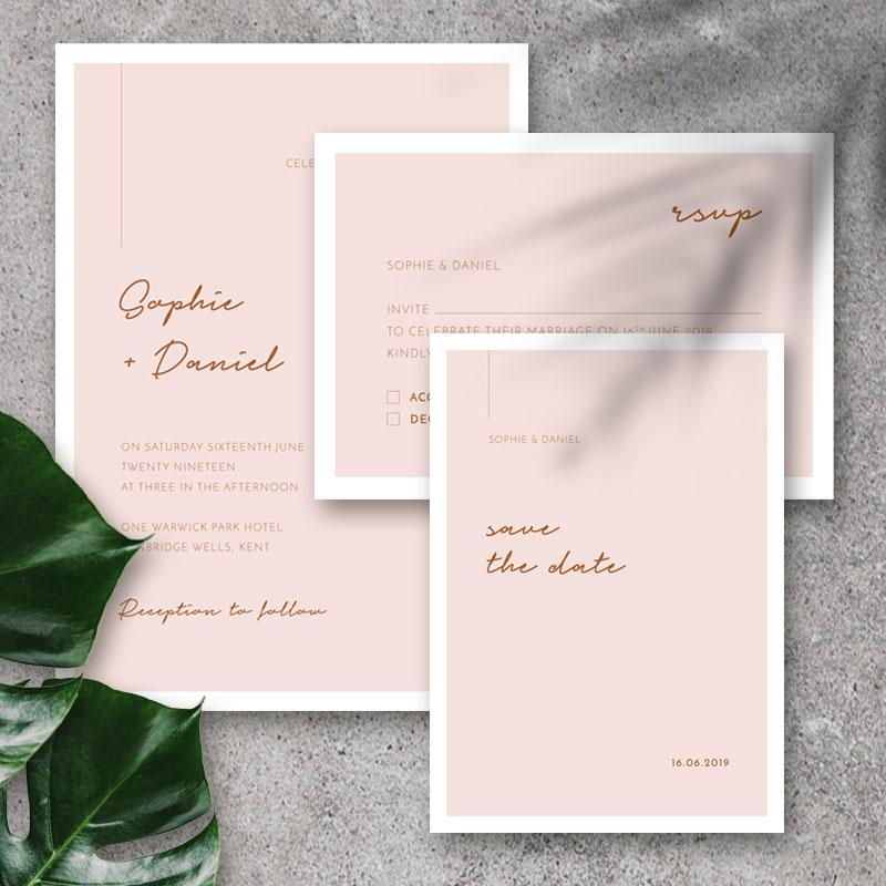 the minimalist invite set